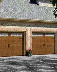wood grain oak summit residential steel garage doors