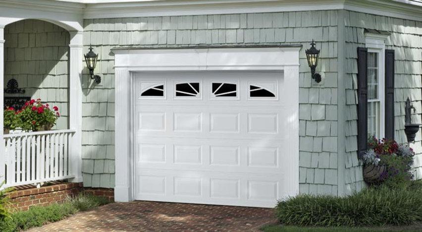 white amarr overhead garage door