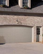 beige heritage residential steel garage doors