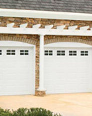 white stratford residential steel garage doors