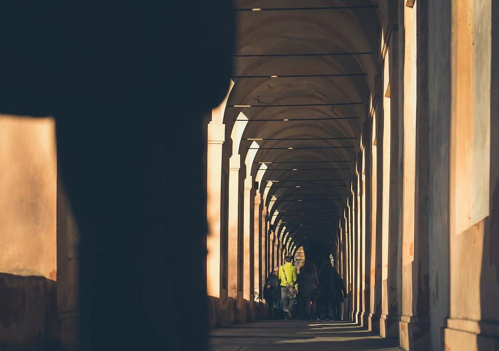 closeup pic of hallway