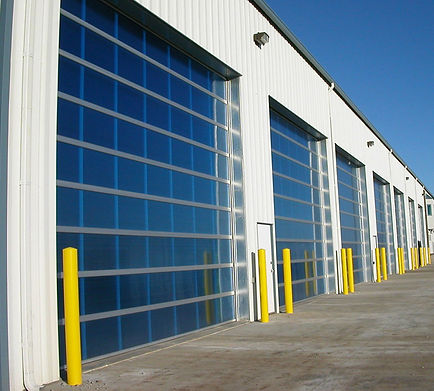 aluminum and glass doors for commercial and industrial garages