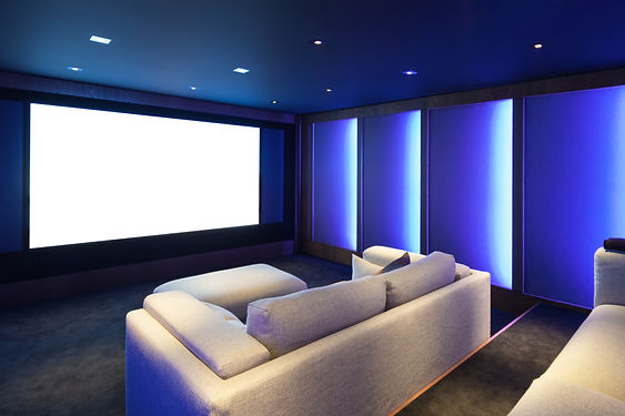 Home theater, luxury interior, comfortab