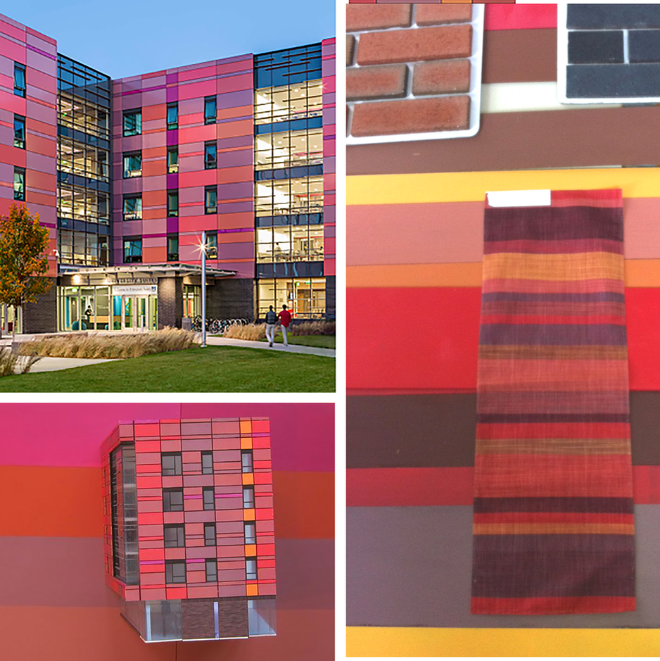 Color Study for exterior panels UMass Lowell