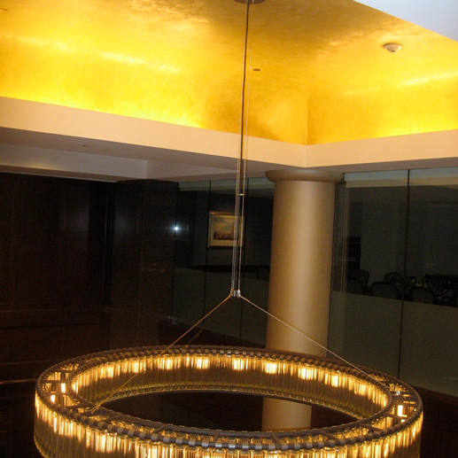 Gold ceilings at 101 Arch Street
