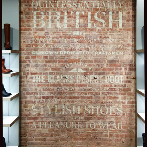 Wall Painting for Clarks USA in Soho Flagship Store