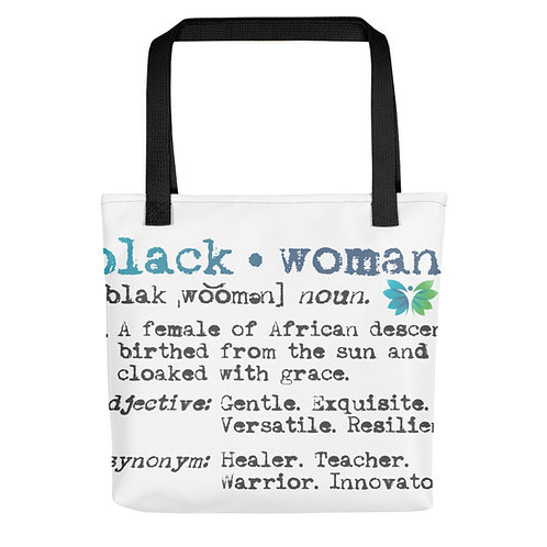 Black Woman All-Over Print Tote