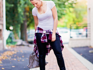 Fall Flannels + Messy Bun