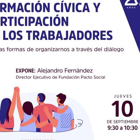 WEBINAR FORMACIÓN CÍVICA Y PARTICIPACIÓN DE LOS TRABAJADORES