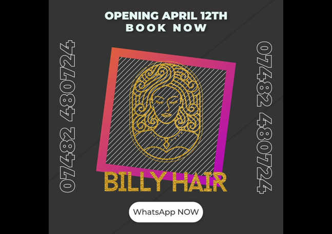 Digital Info Graphics for Billy Hair