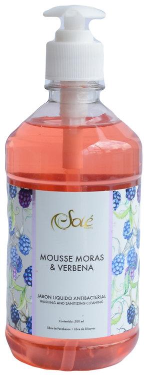 Jabón líquido Antibacterial Mousse moras y Verbena
