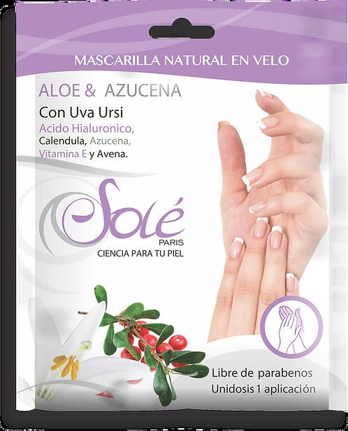 Mascarilla natural en velo para manos (guante)