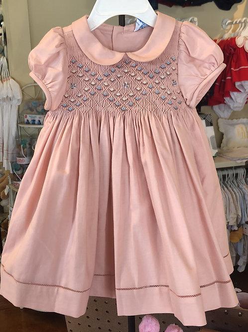 Luli Smocked mauve dress