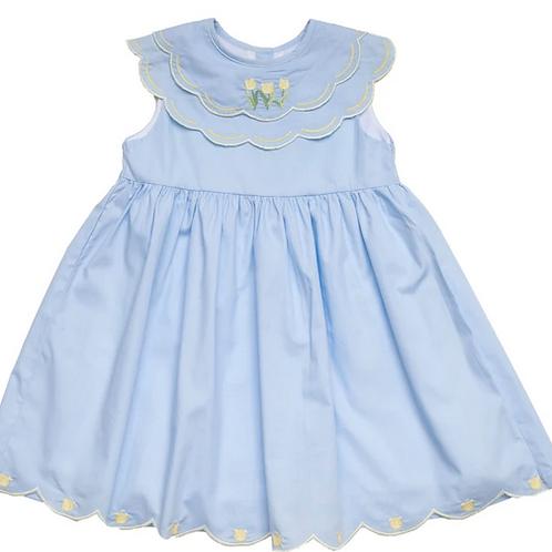 Olivia Blue Tulip Dress