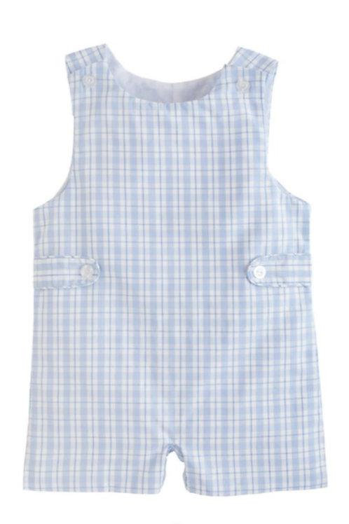 Button Tab John John blue Plaid