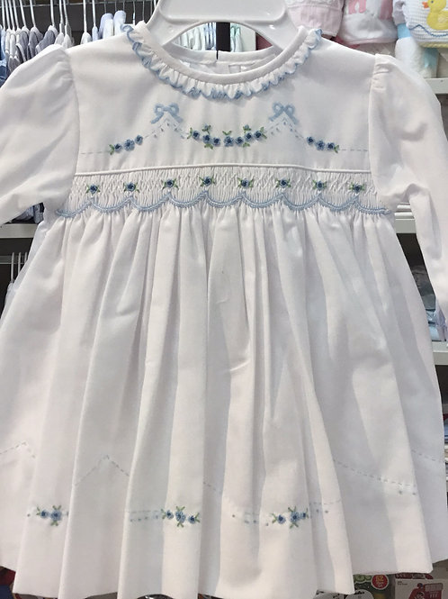 Sarah Louise Blue Flower Dress