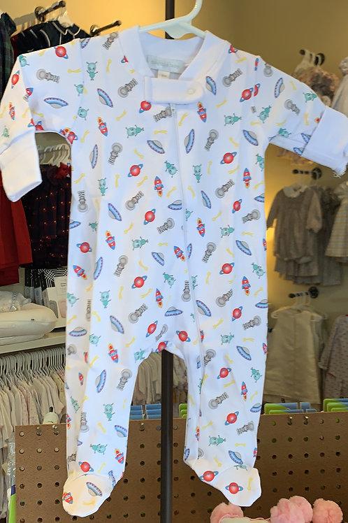 Magnolia Baby Alien Zip Pajama
