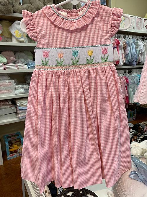 Lulu Bebe Smocked Tulip Dress