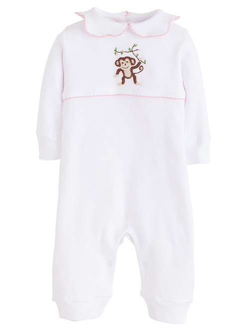 Little English Pink Monkey Playsuit