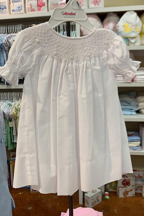 Rosalina White Smock Dress
