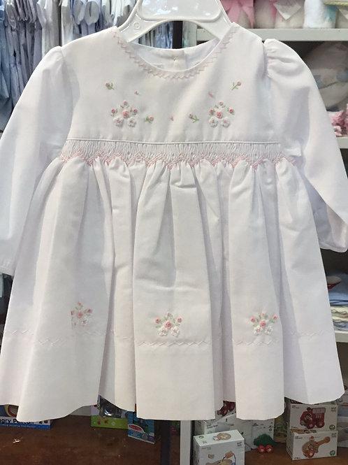 Sarah Louise Long Sleeve White Dress