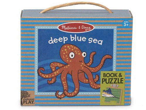 Deep blue sea book and puzzle set