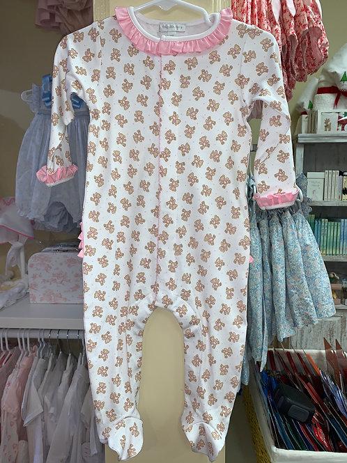 Magnolia Baby Vintage Teddy Footie PJ