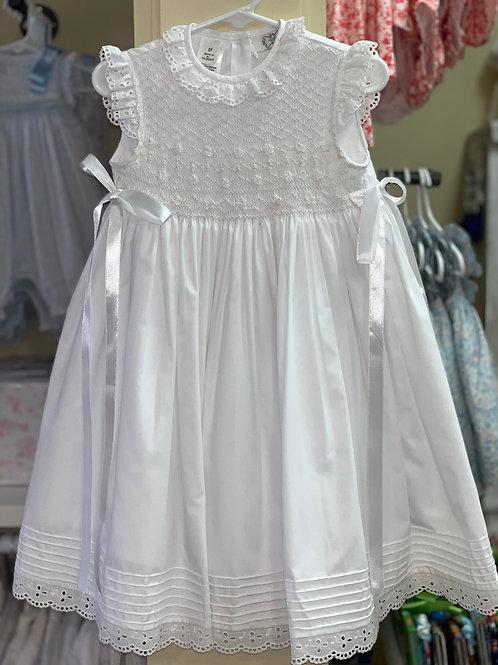 Lulu Bebe White Smocked Dress