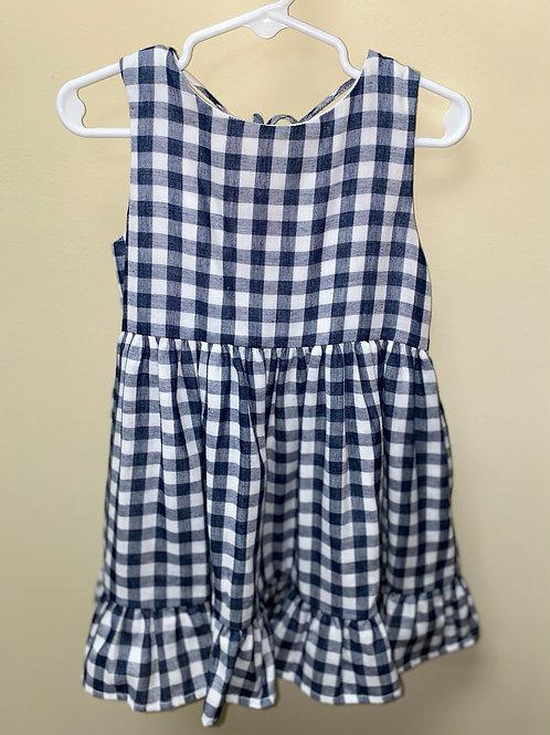 Gabby Navy Gingham Dress