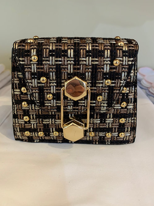 Black/Gold Patterned Purse
