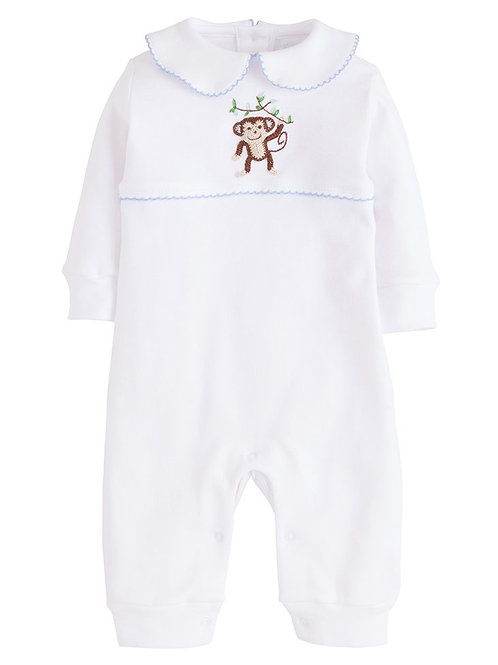 Little English Blue Monkey Playsuit