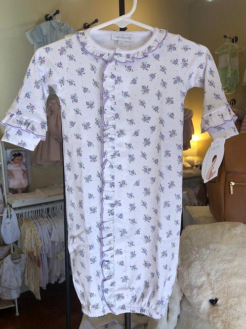 Magnolia Baby Lavendar Floral Converter Gown