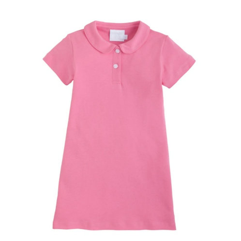 Little Polo Dress Hot Pink