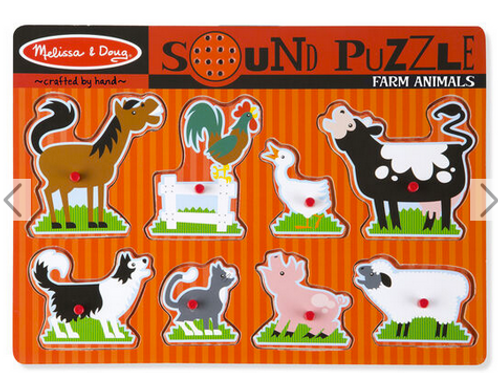 farm animal sound puzle