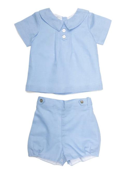 Joseph Blue Linen Short Set