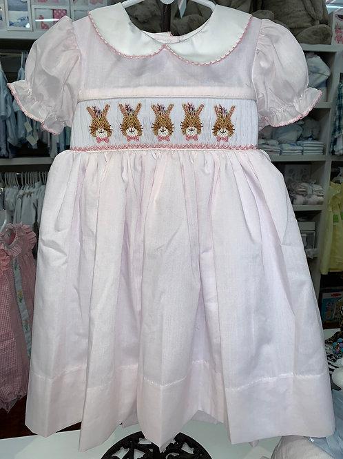Lulu Bebe Pink Bunny Dress