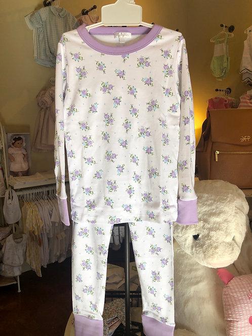 Magnolia Baby Lavendar Floral PJ Set