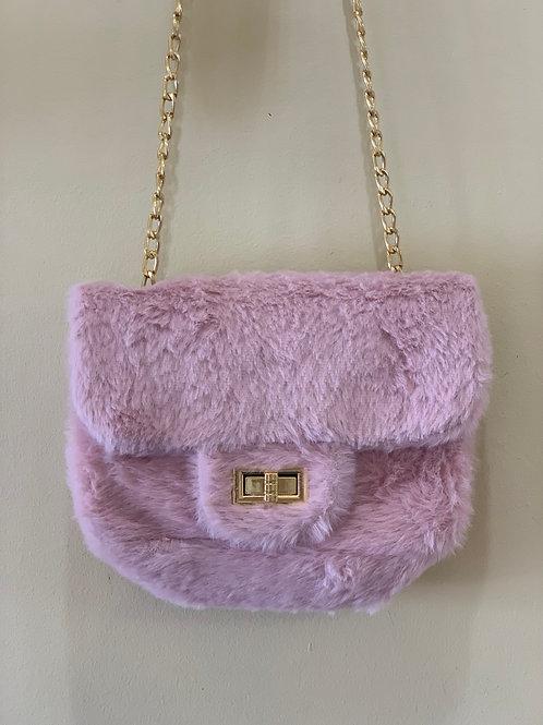 Pink Fuzzy Purse