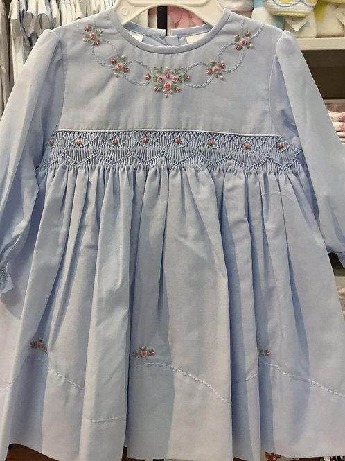 Sarah Louise Blue Smocked Dress
