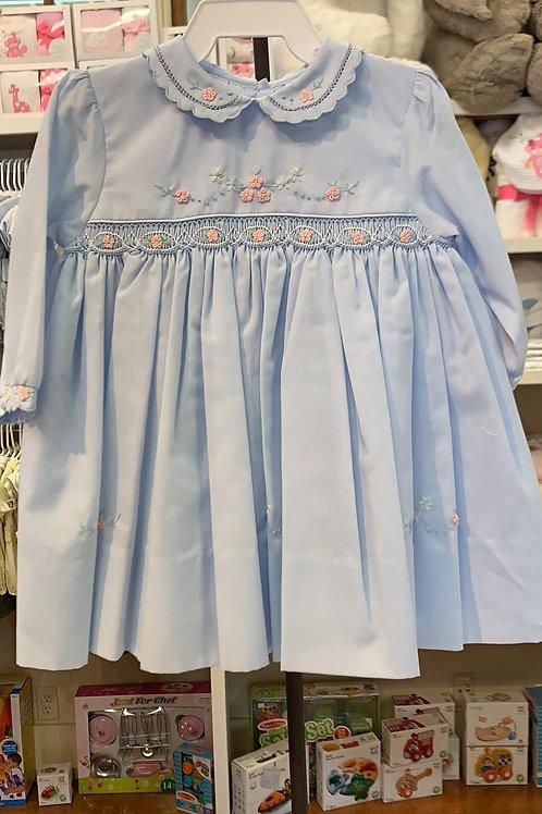Sarah Louise Blue Longsleeve Dress