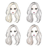 4 Makeup Types / メイクアップタイプイラスト