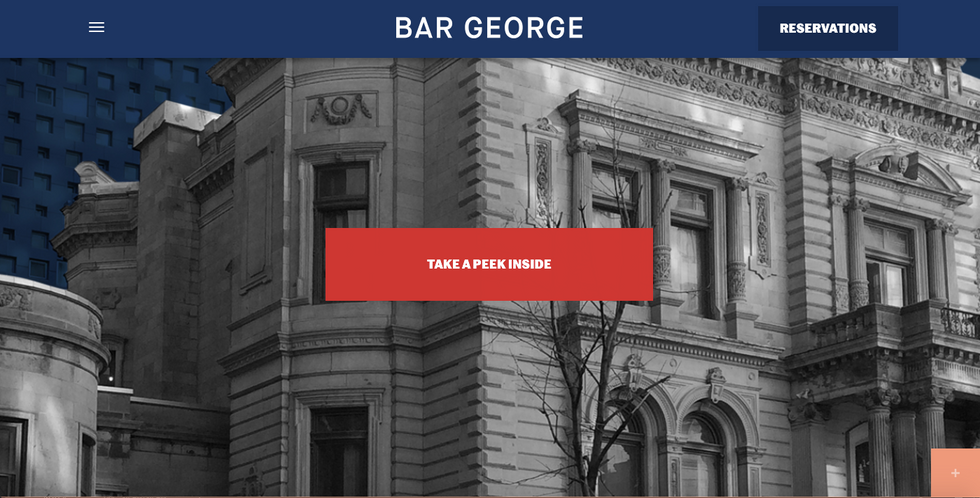 Bar George Website