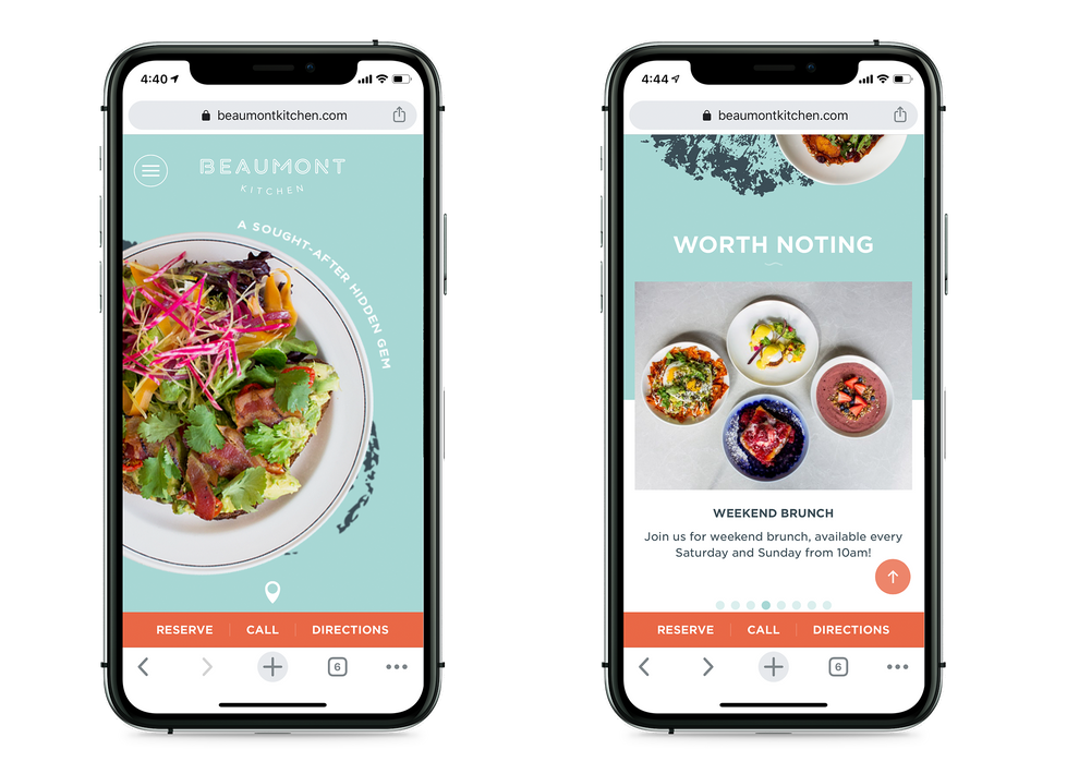 Beaumont Kitchen Mobile Site