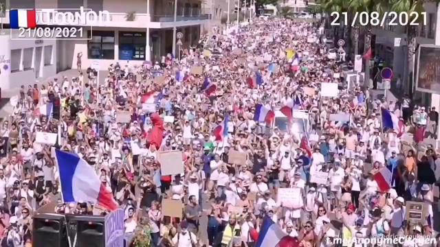 Les images des manifestations contre le pass sanitaire du 21/08/21
