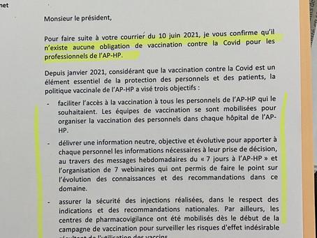 Il n'existe aucune obligation de vaccination contre la Covid pour les professionnels de l'AP-HP