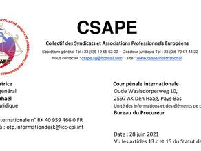 Plainte déposée contre la France devant la Cour pénale internationale pour crime contre l'humanité