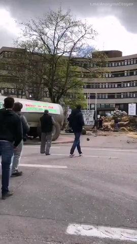 Grosse manifestation d'agriculteurs à Dijon