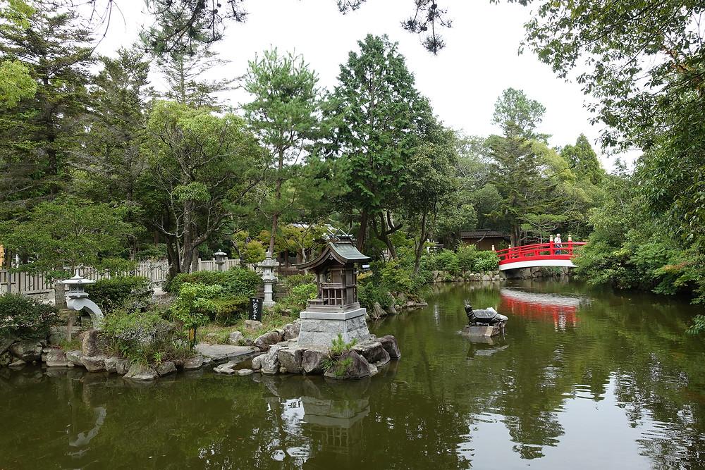 beautiful garden in Izanamgi jingu