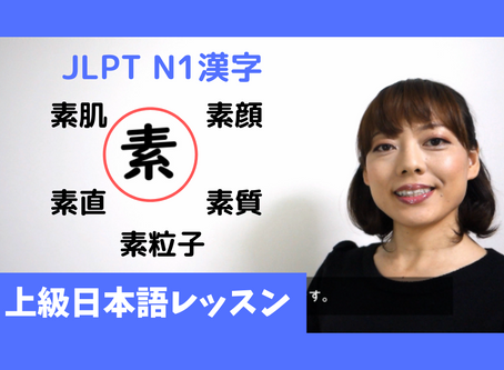 JLPT N1 漢字 「素」Advanced Japanese Lesson