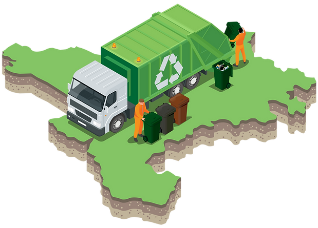 Decrotive map showing waste and recycling in West Cheshire
